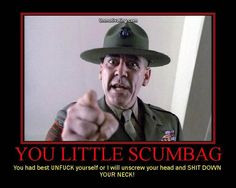 In the top ten greatest lines ever in any movie. Full Metal Jacket ...