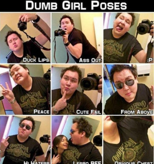 dumb poses that girls always do in photos