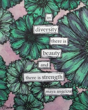 watercolor and ink. maya angelou quote.