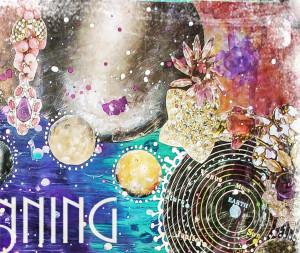 Stars Like Dust - 8 x 10 paper print, rumi quote print, celestial ...
