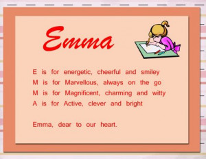 Acrostic name poems are simple