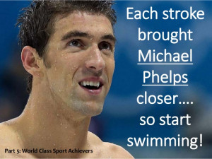 Michael Phelps Motivational slogans and Quotes.