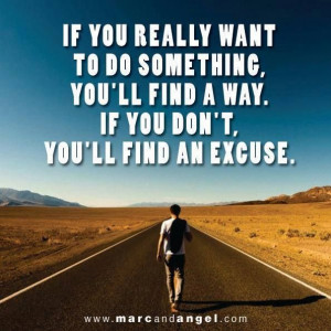 Tired of excuses!