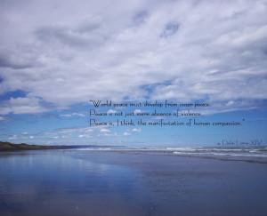 MANNAM Peace] Dalai Lama quote