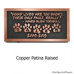 Pet Memorial in Copper Patina