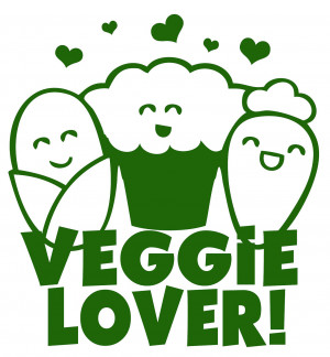Veggie Lover Vegetarian Vegan Foodie Healthy Funny Cute Kawaii Japan T ...