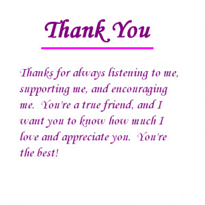 Thanks For Listening To Me Appreciations For You