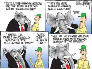 Funny photos funny political cartoon Republicans plan