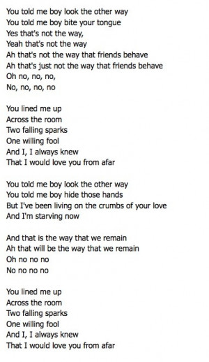 From Afar by Vance Joy