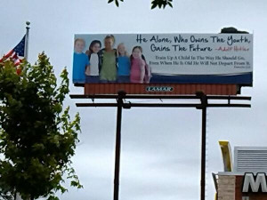Christian Ministry Quotes Adolf Hitler on Billboard, Not Realizing ...