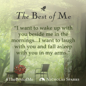 beside me in the mornings... I want to laugh with you and fall asleep ...