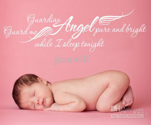 1004 Guardian Angel Wall Quote Decal Sticker Decor Nursery Lettering ...
