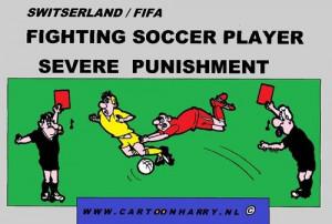 funny soccer cartoons | Cartoon: Fighting Soccer Player (medium) by ...