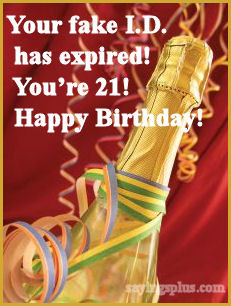 21st birthday quotes funny sayings