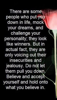 Some people--- the ones who no matter what have to label you, call you ...