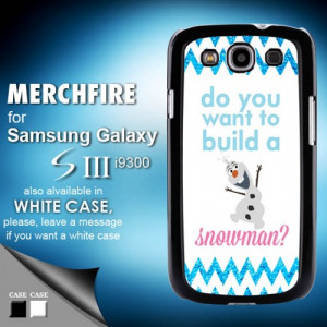 frozen olaf summer on beach case for samsung galaxy s3