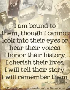 am bound to them, though I cannot look into their eyes or hear their ...