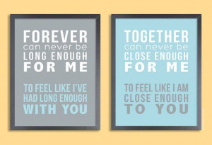 Personalized Quote Print 11x14 Set of two prints by papermintsshop, $ ...