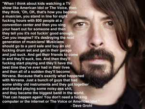 It's okay to suck. Even Dave Grohl says so.