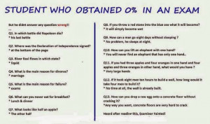 Funny Student Exam Answer Sheet - World Funny Picture