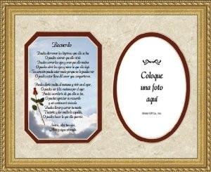 Spanish Memorial Female Poem Remembrance Photo Frame 9