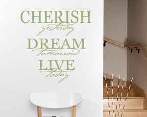 ... Today Decal - Home Wall Decal - Inspirational Life Quote Wall Decal