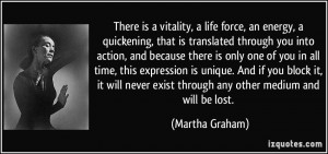 More Martha Graham Quotes