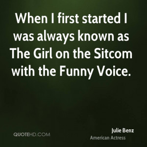 ... was always known as The Girl on the Sitcom with the Funny Voice