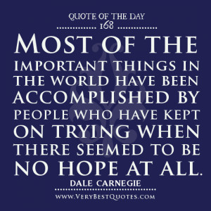 keep trying quotes, quote of the day