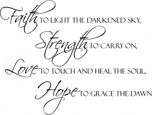 Faith Strength Love Hope | Wall Decals