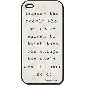 Jobs Quote Crazy apple iphone 4 case, iphone case, iphone 4s case ...