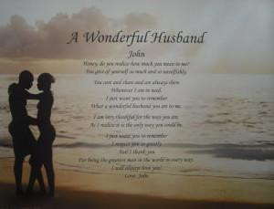 Poems for a Wonderful Husband | poems memorial poems grandparent poems ...