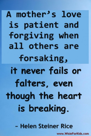 Quotes about mothers love loving mother quotes
