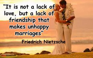Unhappy Marriage Quotes Sayings It is not a lack of love, but a lack ...