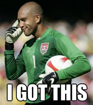 Tim Howard keepin' it cool. (Goalkeeper for English club Everton and ...