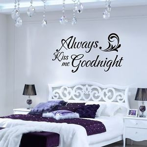 Details about Goodnight wall Quote Vinyl Decal Sticker Wall Art bed ...