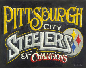 Pittsburgh Steeler Print With...