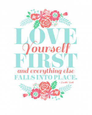 FREE PRINTABLE: LOVE YOURSELF FIRST