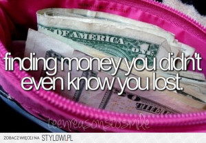 funny, lost, money, quotes, smile