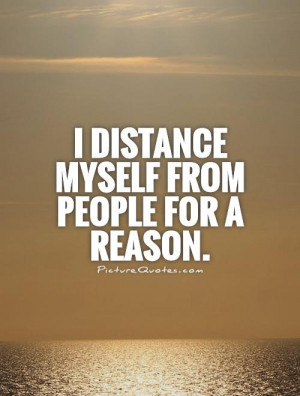 Distance Myself Quotes