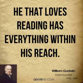 Has Everything Within His Reach William Godwin Lifehack Quotes