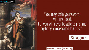 St Agnes of Rome -SAINTS Quotes HD-Wallpapers FREE DOWNLOAD