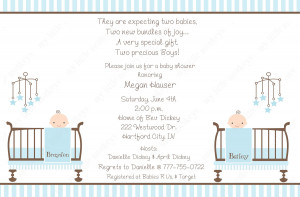 Displaying 17> Images For - Twin Baby Shower Invitations Wording...