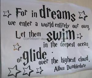 WALL-QUOTE-ART-DECAL-VINYL-STICKER-DREAMS-by-Albus-Dumbledore-Harry ...