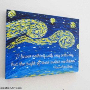 Inspirational Quotes Vincent Van Gogh Starry Night Style Abstract ...
