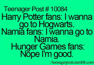 harry potter, hunger games funny quotes