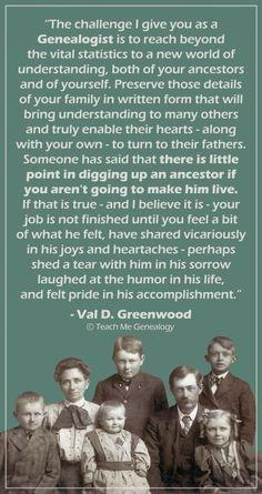 Inspiring Genealogy Quote: