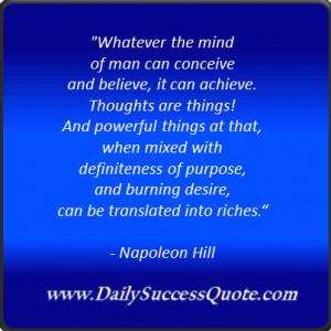 Napoleon Hill on the power of the mind