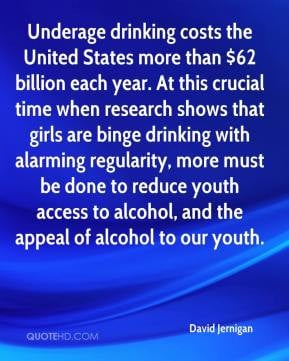 ... binge drinking with alarming regularity, more must be done to reduce