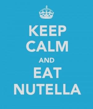 eat nutella.